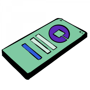 cartoon cell phone with app
