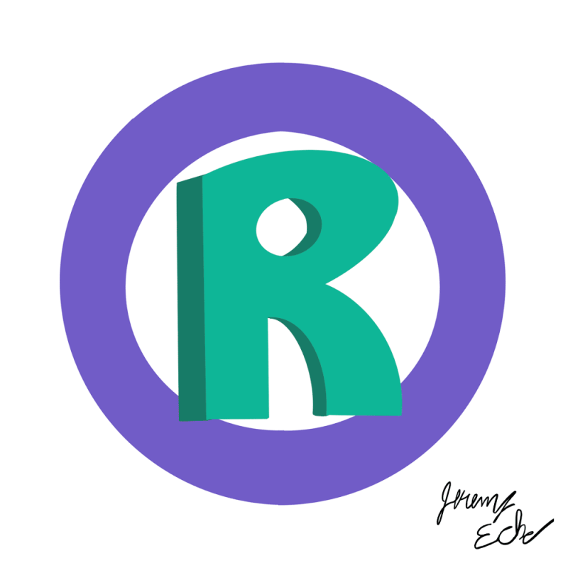 Green and purple registered trademark symbol.