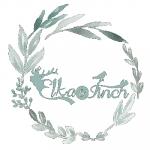 Elka & Finch logo with wreath