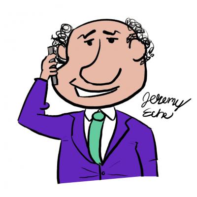 Cartoon of a trademark broker by Jeremy Eche.